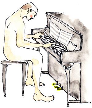 ピアノを弾けば丸裸